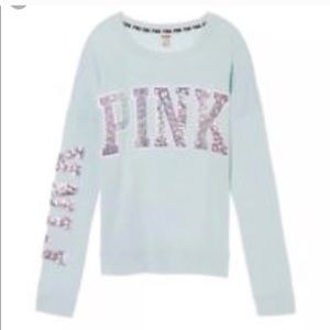 Victoria's Secret pink XS bling campus long sleeve